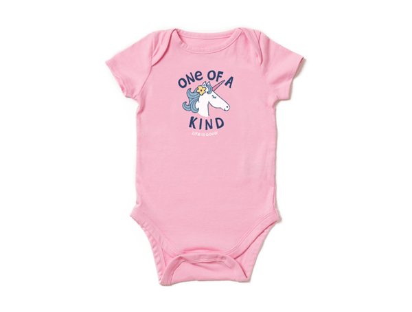 Life is Good Infant Crusher Baby Bodysuit - One of a Kind Unicorn