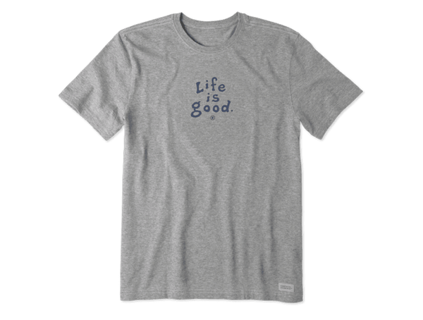 Life is Good Men's Vintage Crusher Tee - LIG Wordmark Stacked