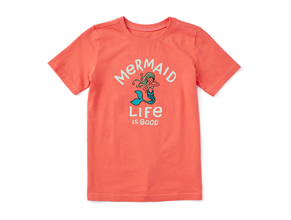 Life is Good Kid's Crusher Tee - Mermaid Life is Good