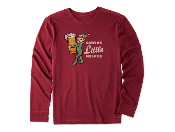 Life is Good Men's Long Sleeve Crusher Tee - Little Helper