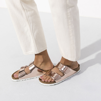 Birkenstock Arizona Soft Footbed - Metallic Leather