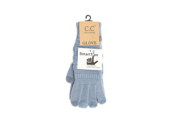 C.C Women's Solid Cable Knit Gloves