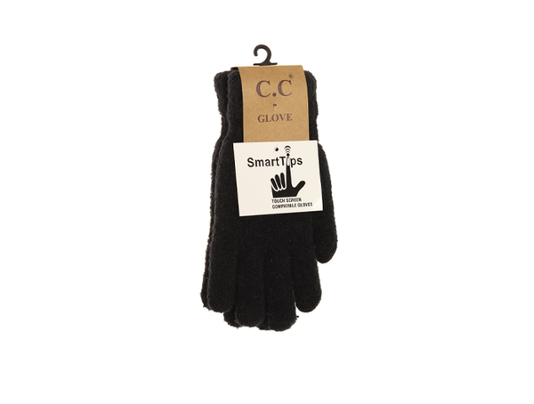 C.C Women's Solid Boucle Knit Gloves