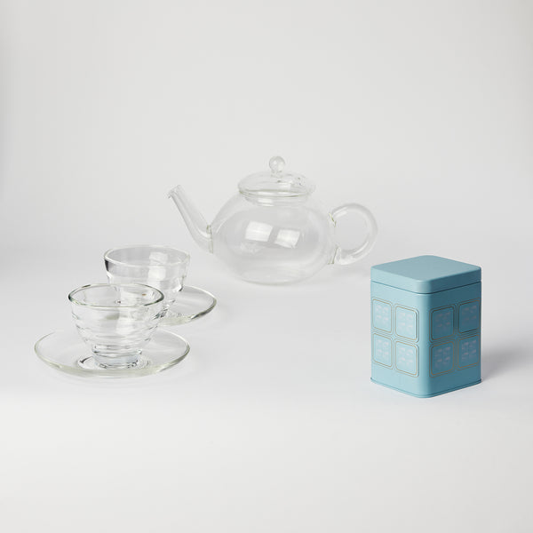 "Hario ""Donau"" Tea Set with Tea"
