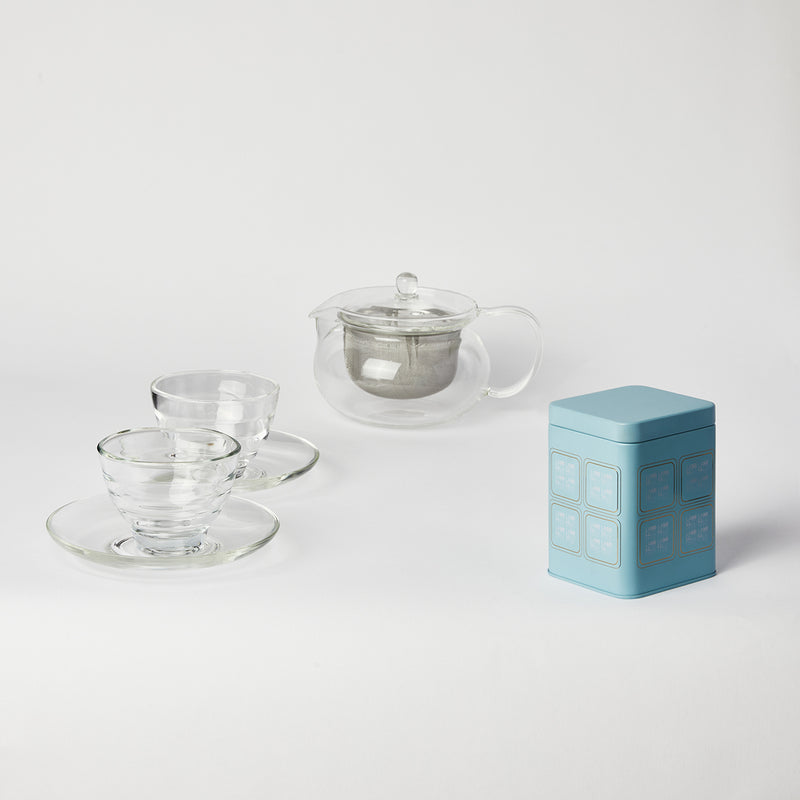 "Hario ""Cha Cha"" Tea Set with Tea Two Cup"
