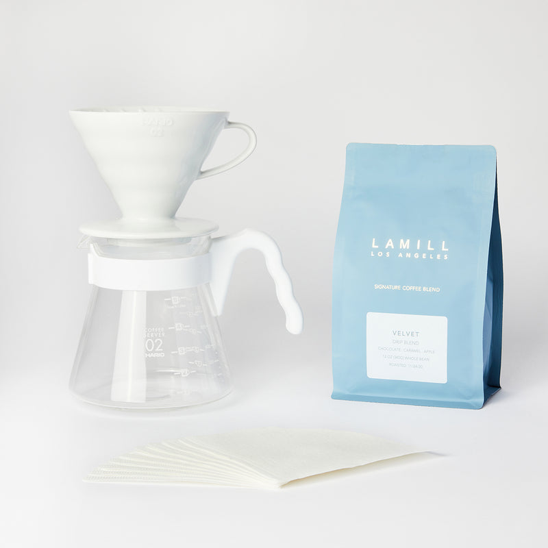 """Simply Hario"" V60 Pour Over Coffee Set With Coffee"