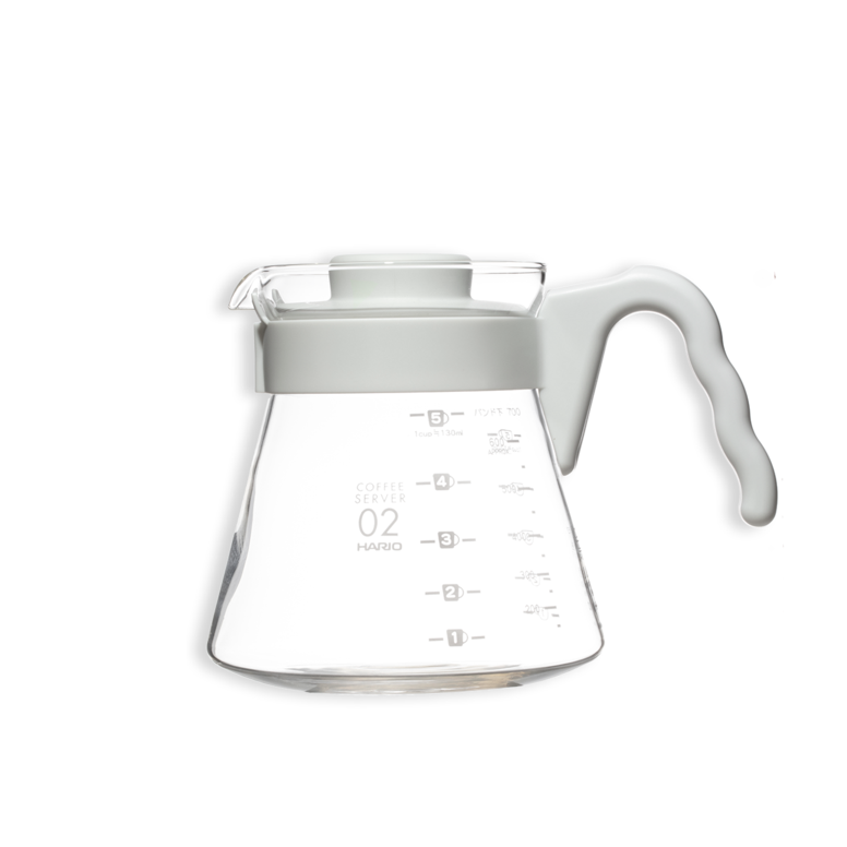 Hario V60 White Handle Glass Server.