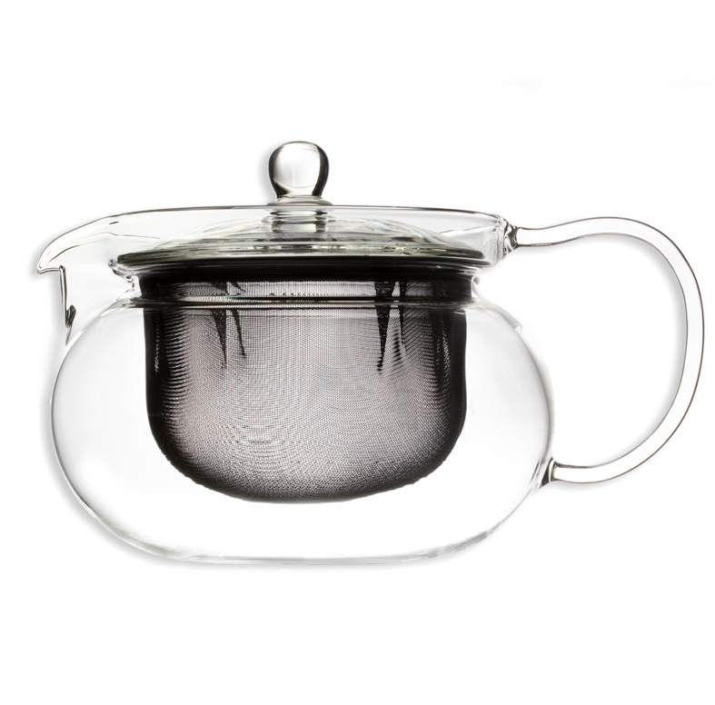 Hario Cha Cha Glass Tea Pot With Stainless Steel Filter.