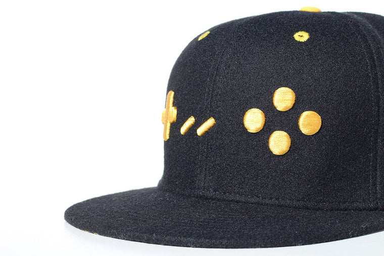 Black and Gold Edition Gamer Hats Snapback Cap