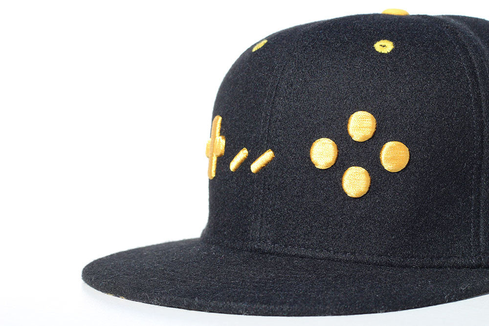 SNES Black and Gold Edition Gamer Hats Snapback Cap - Gamer Hats
