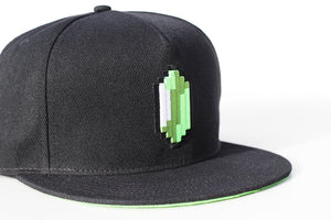 Green Pixel Rupee Limited Edition Snapback Cap - Gamer Hats