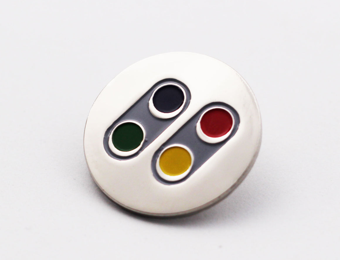 SNES SFC Limited Edition Chrome Pin - Gamer Hats