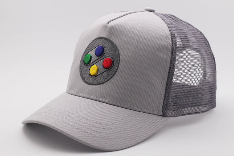 SNES SFC Curved Brim Meshback Cap - Gamer Hats