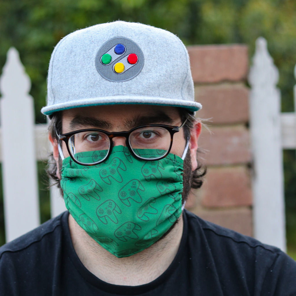 Green N64 Face Mask - Gamer Hats