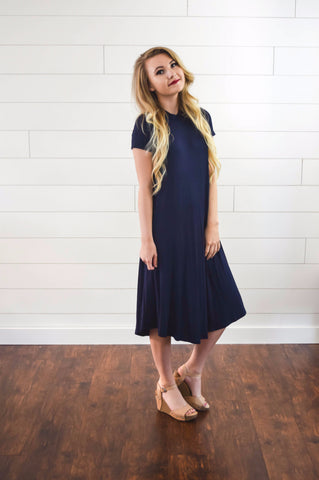 Navy T-shirt dress