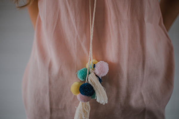 Dreamscicle Pompom Top