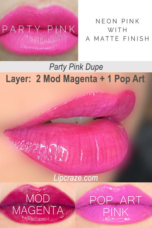 Senegence Lipsense Party Pink Dupe Mix