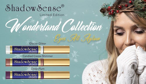 Senegence Shadowsense Wonderland Collection Deep Plum Glacier Glitter Candied Cocoa Shimmer