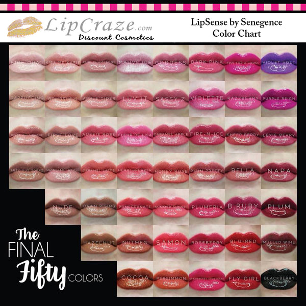 Lipsense Color Chart