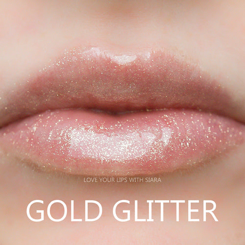 gold glitter gloss for lipsense by senegence