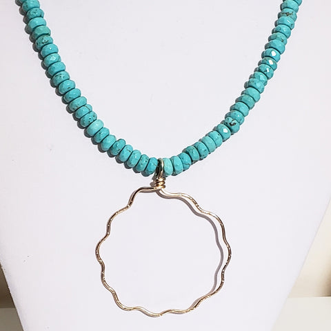 Cloud by Day Necklace with Turquoise