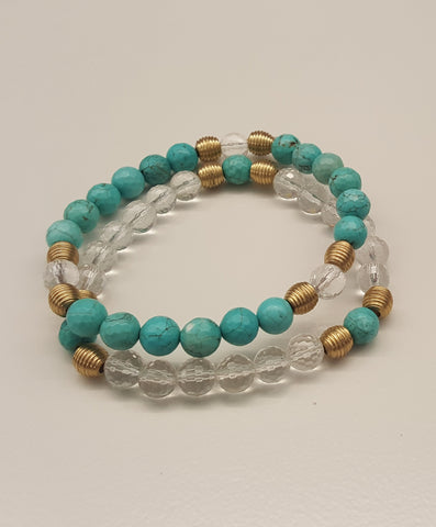 Colorful gemstone bracelets by Mood theme