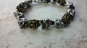 Skull bracelet custom jewelry design
