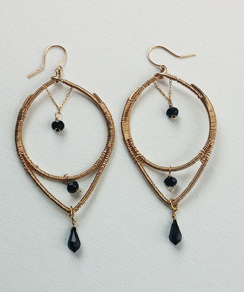 Rachel Wire Wrapped Earring are Handmade By Ayana Glaze