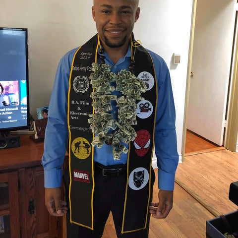 Check out this custom graduation stole for film