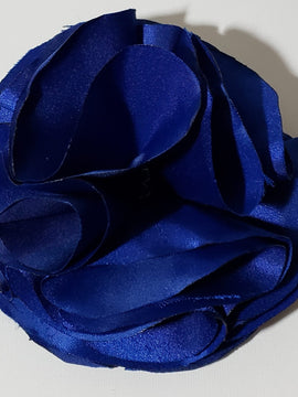 Liza Royal Blue Satin Flower Pin