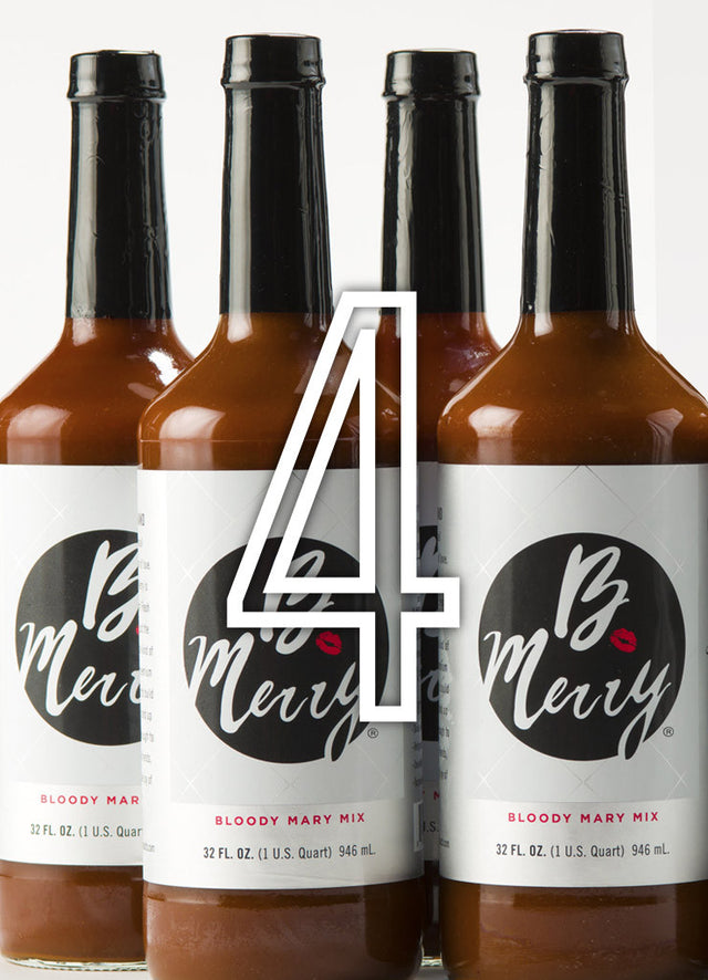 Four Bottles of B. Merry Bloody Mary Mix