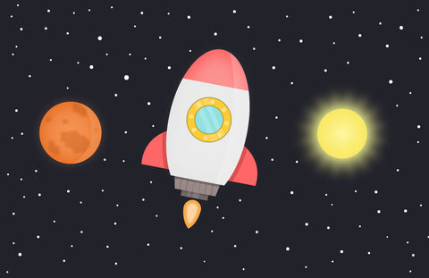 Outer Space Flat Vector Art - Imagibazaar