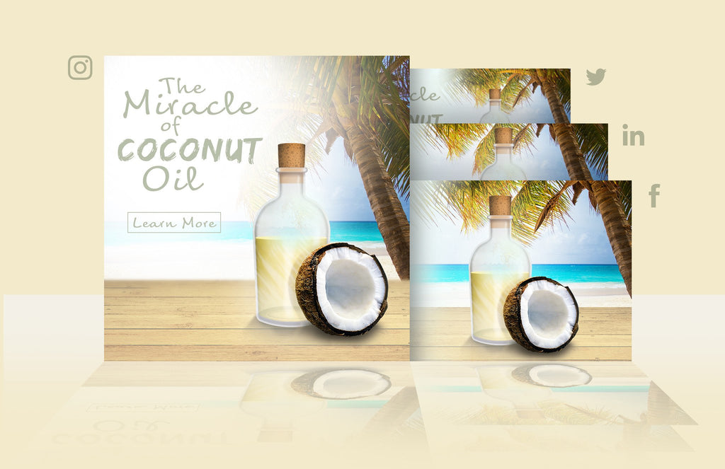Coconut Oil - Social Media PSD Template - Imagibazaar