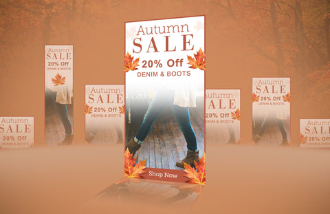 Autumn Sale Remarketing eCommerce Banners - PSD Template - Imagibazaar