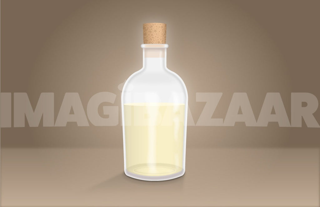 Realistic Apothecary Bottle with Coconut Oil - Vector - Imagibazaar