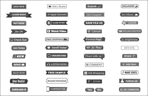 44 Call-To-Action Vector Buttons - Imagibazaar