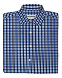 Modiva blue plaid custom tailored men's dress shirt