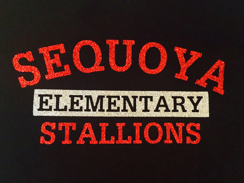 Sequoya Elementary Stallions Bling (Youth Tank Top)