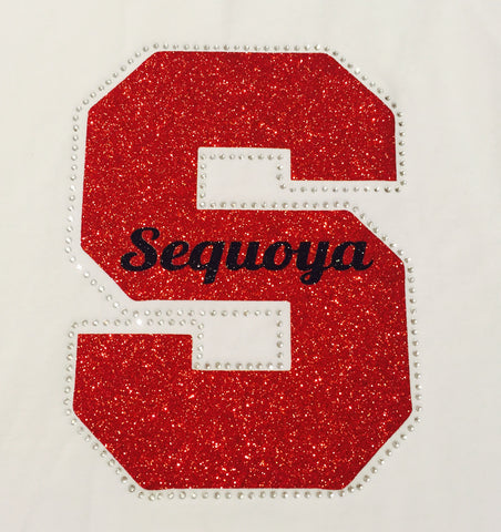 """S"" Sequoya Bling (Adult Short Sleeve)"