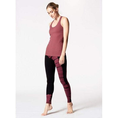 Asymmetrical Dye V-Ankle Pant-printed-printed-Indira Active