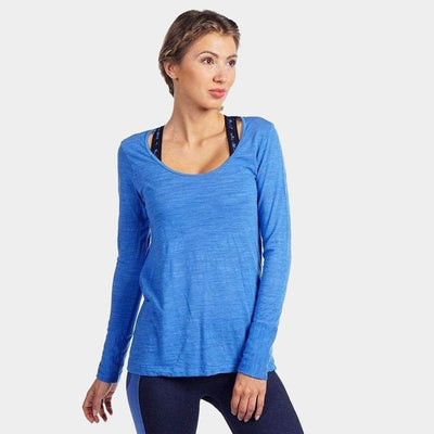 Avery Long Sleeve Drape Back-long-sleeve-Provence Blue-XS-long-sleeve-Indira Active