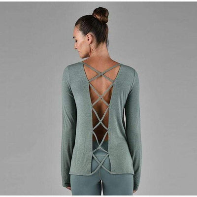 Criss Cross-long-sleeve-Green-xs-long-sleeve-Indira Active