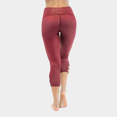 Lace Up Barre Cropskin-capris-capris-Indira Active