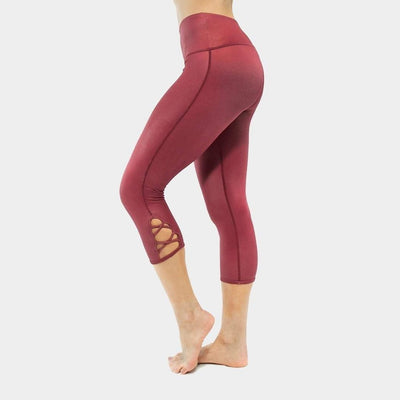 Lace Up Barre Cropskin-capris-Red-XS-capris-Indira Active
