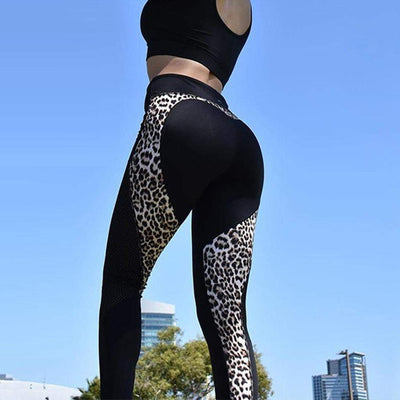 Leopard Heart-printed-printed-Indira Active