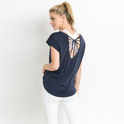 Par-Ty-short-sleeve-Navy-S/M-short-sleeve-Indira Active