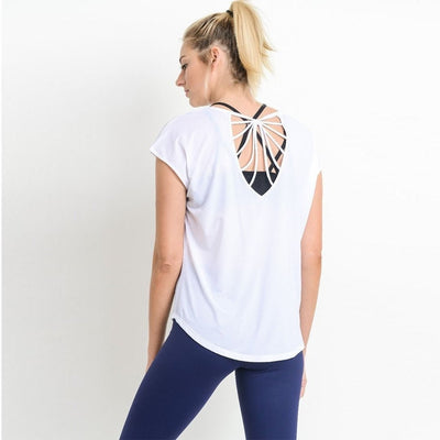 Par-Ty-short-sleeve-White-S/M-short-sleeve-Indira Active