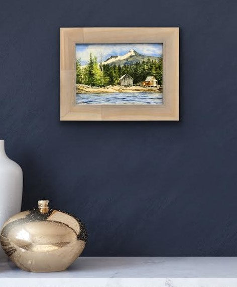 SNOW COVE FRAMED CANVAS