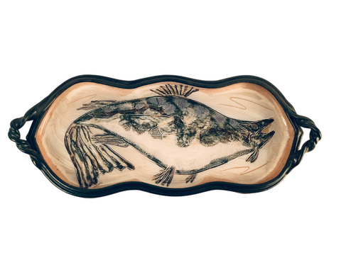 LARGE TRAY WITH FISH
