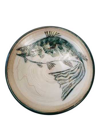 LARGE BOWL W/ FISH, JADE